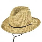 Toddler's Raffia Chincord Fedora Hat