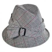 Assymetrical Plaid Fedora Hat