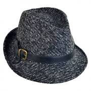 Knot Band Tweed Fedora Hat
