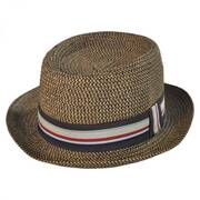 Straw Tweed Pork Pie Hat