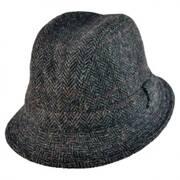 Harris Tweed Windowpane Walker Fedora Hat