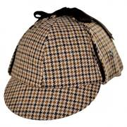 Sherlock Holmes Houndstooth Deerstalker Hat