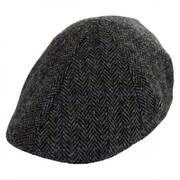 Harris Tweed Plaid Duckbill Ivy Cap (Taupe/Black)