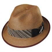 8 Track Straw Trilby Fedora Hat