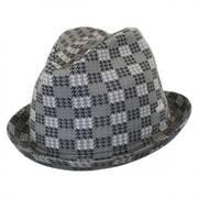 Houndscheck Jacquard Player Fedora Hat