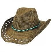 Bead Band Straw Western Hat