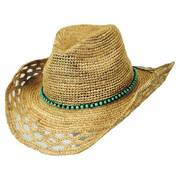 Bead Band Straw Western Hat