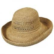 Raffia Crochet Roller Hat
