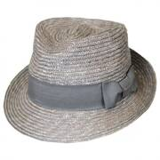 Wheat Braid Arnold Straw Trilby Fedora Hat