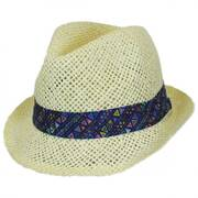 Azteca Toyo Straw Fedora Hat - Toddler