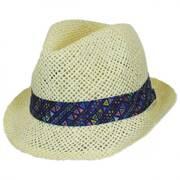 Toddler's Azteca Toyo Straw Fedora Hat