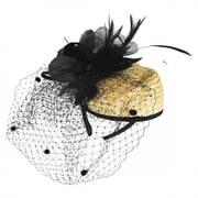 Straw Cocktail Hat