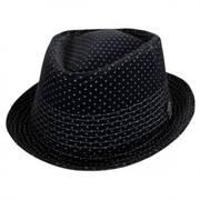 Velvet Diamond Crown Fedora Hat
