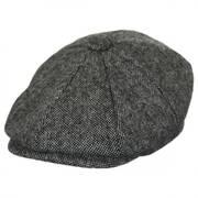 Basketweave Marl Tweed Wool Newsboy Cap