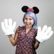 Minnie Mouse Ears and Gloves