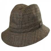 Plaid Wool Felt Walking Fedora Hat