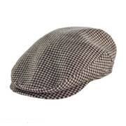 Houndstooth Wool and Cashmere Earflap Ivy Cap