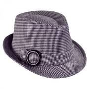 Houndstooth Fedora Hat - Child