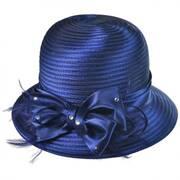 Satin Ribbon Cloche Hat