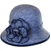 Boucle Jersey Flower Cloche Hat