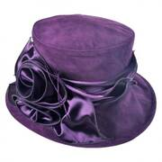 Raisin Velvet Boater Hat