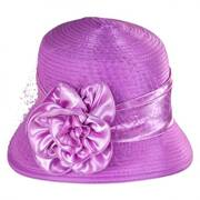 Rose and Netting Cloche Hat