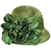 Crisp Green Metallic Dress Hat