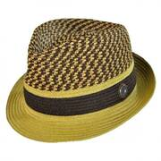 Braid Straw Trilby Hat