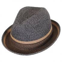 Grimet Toyo Braid Straw Trilby Fedora Hat