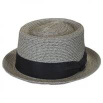 Waits Sewn Braid Straw Pork Pie Hat