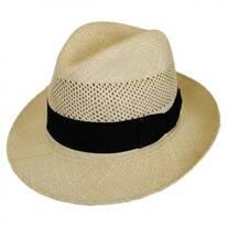 Groff Vent Panama Straw Fedora Hat