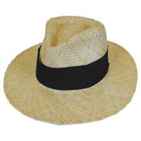 Diggs Sisal Straw Tear Drop Fedora Hat
