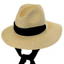 Sierra Scarf Toyo Straw Fedora Hat