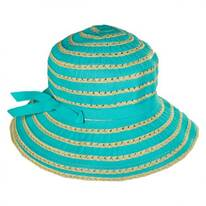 Ribbon Straw Bucket Child's Hat