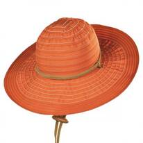 Ribbon Floppy Sun Hat w/ Chincord