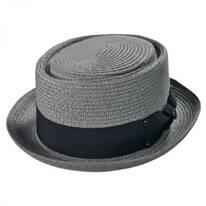 Toyo Straw Braid Pork Pie Hat