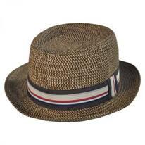 Straw Tweed Pork Pie Hat