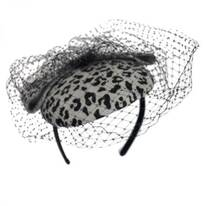 Leopard Fascinator Headband