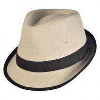 Kid's Tweed Fabric Fedora Hat