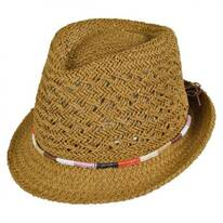 Color Block Band Toyo Straw Fedora Hat