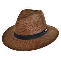 Ribbon Toyo Straw Safari Fedora Hat