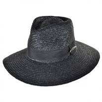 Dixie Wheat Straw Wide Brim Fedora Hat