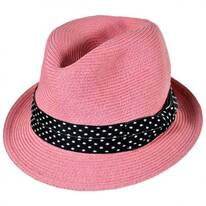 Kid's Gecko Straw Fedora Hat