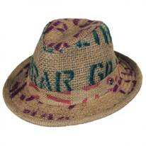 Havana Coffee Works Jute Mod Trilby Fedora Hat