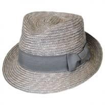 Wheat Braid Straw Arnold Trilby Fedora Hat