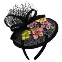 Flower Dish Straw Fascinator Headband