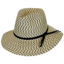 Tweed Toyo Straw Safari Fedora Hat