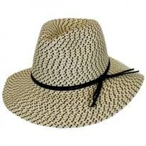 Tweed Toyo Straw Safari Fedora Hat