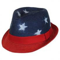 Kid's Freedom Toyo Straw Fedora Hat