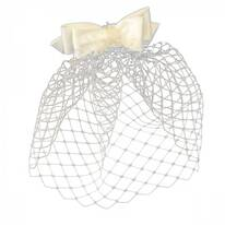 Bow and Veil Comb Fascinator